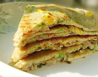 豆浆蔬菜煎饼---营养早餐自己做的做法