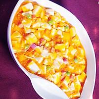 咸蛋黄烩豆腐的做法图解5
