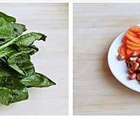 老醋菠菜花生的做法图解1