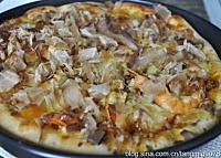 金枪鱼大虾比萨的做法图解20
