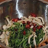 萝卜苗炝拌海鲜菇的做法图解5