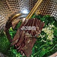 菠菜拌猪肝的做法图解5