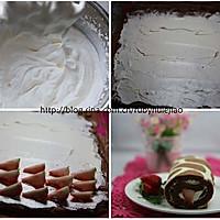 """给蛋糕穿一件漂亮的""""豹纹衣"""" --- 草莓豹纹奶油卷(附十一款美味蛋糕详细做法)的做法图解5"""