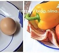 培根蔬菜蛋羹的做法图解1