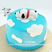 翻糖snoop蛋糕 附超细海绵蛋糕做法的做法图解7