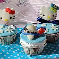 hello kitty猫 造型 翻糖蛋糕+杯子蛋糕的做法图解1