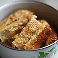 豆腐皮蟹肉卷的做法图解3