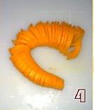 蓑衣胡萝卜的做法图解4