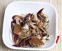 梭子蟹炒年糕的做法图解1