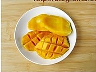 椰浆芒果紫米粥的做法图解2