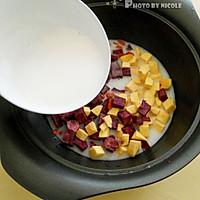解馋又瘦身的椰香双薯藜麦羹的做法图解5
