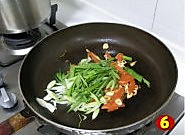 青蒜胡萝卜炒鸭血的做法图解6