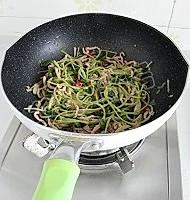 黑豆苗炒肉丝的做法图解10