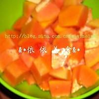 雪耳冰糖炖木瓜的做法图解1