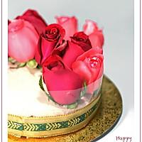玫瑰白巧克力冻芝士的做法图解7