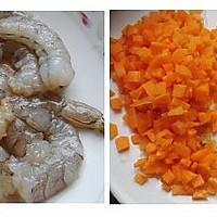 虾仁甜瓜炒饭的做法图解1