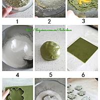 夏日里的绿色清香——抹茶叶形饼的做法图解1