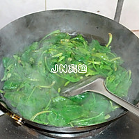 菠菜拌猪肝的做法图解3