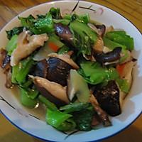 清炒香菇盖菜的做法图解3