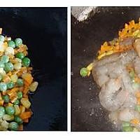 虾仁甜瓜炒饭的做法图解3