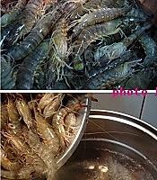 白灼基围虾的做法图解1
