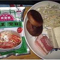泡菜豆腐锅的做法图解1