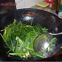 韭菜炒虾仁的做法图解5