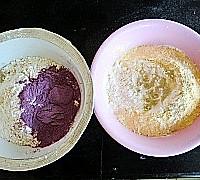 双色紫薯蝴蝶卷的做法图解1