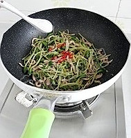 黑豆苗炒肉丝的做法图解9
