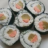 酸黄瓜寿司的做法图解7