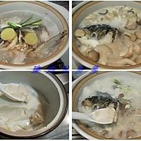 鱼头豆腐菌菇煲的做法图解3