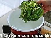 菠菜猪肝汤的做法图解4