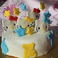 hello kitty猫 造型 翻糖蛋糕+杯子蛋糕的做法图解3