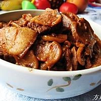 五花肉炖干土豆片的做法图解4