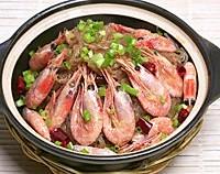 酸菜粉丝北极虾煲的做法图解6