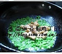 茄汁豇豆闷鸡丁的做法图解5