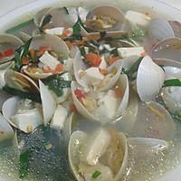 天下第一鲜 蛤蜊豆腐汤的做法图解1