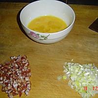 香肠鸡蛋炒饭的做法图解2