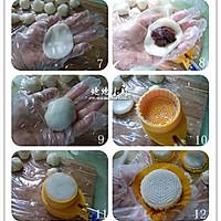 豆沙冰皮月饼的做法图解7