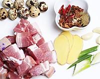 鹌鹑蛋红烧肉的做法图解1
