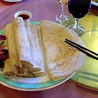 雁荡山著名小吃---麦油煎(卷筒煎饼)的做法的做法图解7