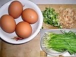 韭菜鸡蛋虾皮饺子的做法图解1