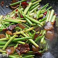蒜苔炒腊肉的做法图解8