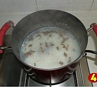 菠菜猪肝粥的做法图解5