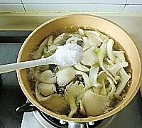 青菜蘑菇汤的做法图解6