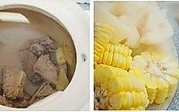 玉米莲藕排骨汤的做法图解3