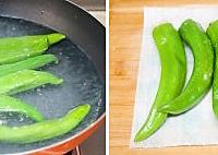 肉酿虎皮尖椒的做法图解5