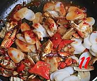 梭子蟹炒年糕的做法图解11