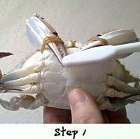 草菇炒花蟹的做法图解1