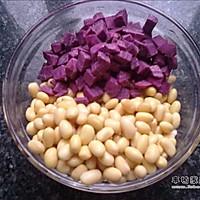精致早餐-紫薯豆浆的做法图解2